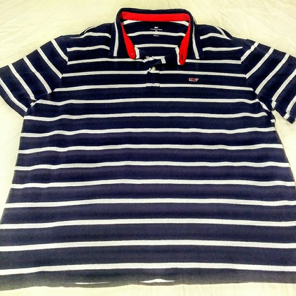 M MEDIUM Vineyard Vines for Target Womens Navy Blue Polo Shirt NAVY NWT